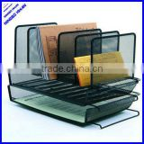 Office metal mesh desk stacking stationery tray