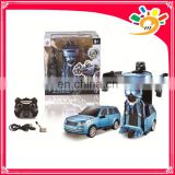 2.4G car transform robot toy Remote control car rc robot