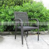 promot hot sell dining garden chair with nice wicker weaving