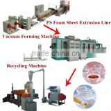high efficiency automatic ps foam food container making machine