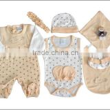 100% cotton baby wear 8pcs set