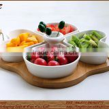 Bamboo Food Storage Tray With Metal Handle