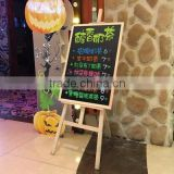 Useful wooden advertisement frame /foldable advertising board with standing