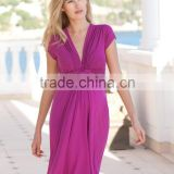hot sale fuchsia knot front design woman clothing for pregnant woman sex