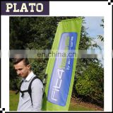 Outdoor promotion customs backpack flag ,walking Banners for advertising,FIT4less printed rectangle backpack flag