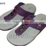 women colorful diamond slippers RW16478A