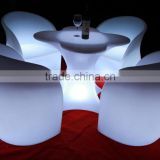 Nigh clube set furniture ktv round high top led table