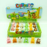 6 assorted Cuddly mini animal wind up toy HC85590
