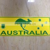 kangaroo decor license plate