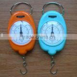 Good selling portable hanging hook plastic spring scale