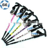 Anti Shock & Retractable Trekking Pole locking mechanisms aluminum collapsible pole Hiking Stick