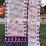 New Patchwork Kantha Stiched Cotton Beach Throw Rugs