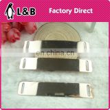 2015 rose gold decorative metal bar trim for garment