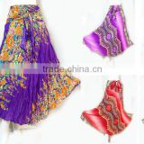 HIPPIE BOHO dashiki floral art beach multi-ware rayon maxi DRESS Kala wooden Skirt