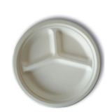 JUST disposable compostable tableware 3Compartment Plate10