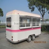 Portable Snack Food Cart Fast Food Truck Mobile Food Cart