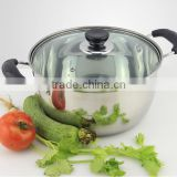 26cm Stainless Steel Soup Pot Kitchen Cooking Pot Stockpot for Gas and Induction Cooker
