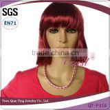 cheap hot sale burgundy short synthetic party wigs