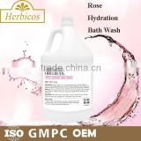 3.78L Rose Hydration Bath Wash Whitening Skin Body Wash For SPA
