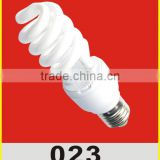 good quality half spiral 18w energy saving lamp