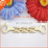 decorative bag and clothing accessories metal chain trim in gold color