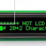OLED display with the same 20x2 character dot matrix module (HTM2002A)