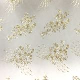 High fashionable design dress textile embroidery lace fabric with crystal