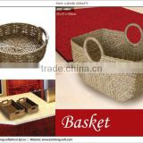 furniture basket with handle, rattan basket