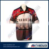 Custom embroidery 100% sublimated pit crew racing shirts for men
