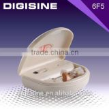 6F5 Multifunction Rechargeable invisible Behind The Ear Hearing Aid Charry Case with LED
