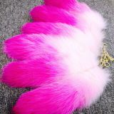 Christmas girls mobile accessory fox fur tail key ring gradient ramp tails
