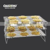 3 tiers metal bread cooling rack, black wire cooling rack