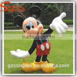 Guangzhou Life Size Concrete Rasin Mickey Minnie Mouse Statue Molds for Sale