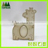 Unique Home Decoration giraffe shaped wooden photo frame