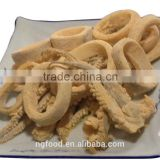 Breaded squid rings all kinds of seafood