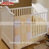 Fashion babybed design furniture with drop side protable baby bed prices