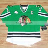 Wholesale jerseys/Chicago blackhawks #19 Jonathan Toews Green cheap ice hockey jerseys Front