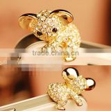 Fashion Crystal Koala Bear Ear Cap Dust Plug For Phone                                                                         Quality Choice