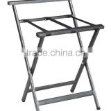Black color folding luggage rack stainless steel