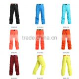 GS High quality waterproof ski snow wear lady's and men's colorful snow winter pants