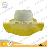 Wholesale Wide Brim Women Straw hat Paper Custom Bands Paper Beach Hat
