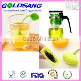 Home Office Perforated Lemon Style Tea Filter Infuser Yellow Green