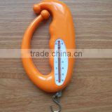 Mini portable plastic 3kgs hanging spring weighing scale