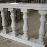 Hollow Stone Pillar White marble pillar Solid marble column granite baluster and handrail Stairs and risers