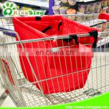 Foldable trolley cart supermarket shopping bags, multifunctional reusable shopping cart bags