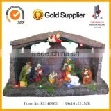 15 Inch Large Led Lighting House Decorations Christmas Crib