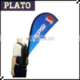 Advertising backpack teardrop flag for PEPSI,backpack walking flag for outdoor activities