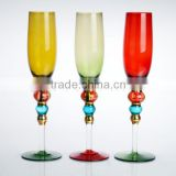 Hand painted colorful christmas champagne flutes set dinner set,royal dinner set
