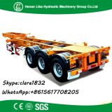 Container transport 20ft 40ft flat bed semi trailer skeleton semi trailer