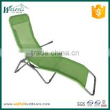 Smooth and soft lightweight outdoor sun lounger